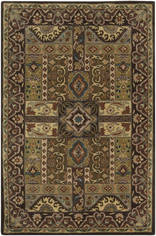 Surya CAE-1048 Caesar Hand Tufted Wool Rug Green 4 Square Home Decor