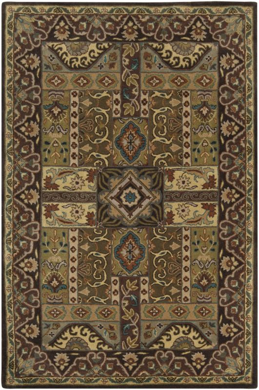Surya CAE-1048 Caesar Hand Tufted Wool Rug Green 5 x 8 Home Decor Rugs