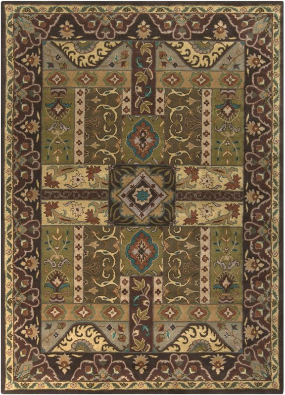 Surya CAE-1048 Caesar Hand Tufted Wool Rug Green 8 x 11 Home Decor
