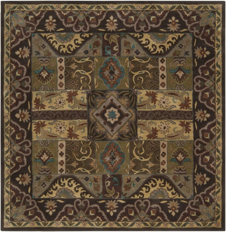Surya CAE-1048 Caesar Hand Tufted Wool Rug Green 8 Square Home Decor