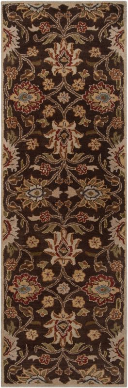 Surya CAE-1051 Caesar Hand Tufted Wool Rug Brown 2 1/2 x 8 Home Decor