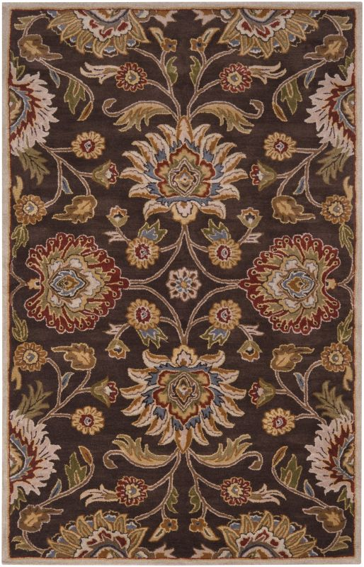 Surya CAE-1051 Caesar Hand Tufted Wool Rug Brown 4 x 6 Home Decor Rugs