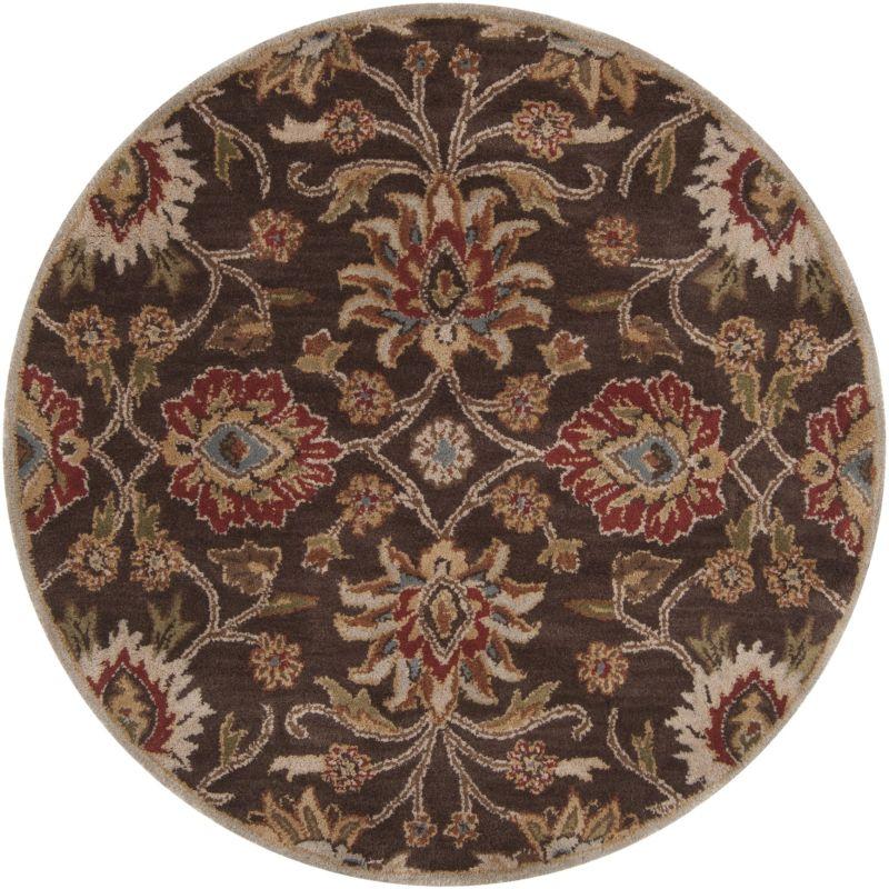 Surya CAE-1051 Caesar Hand Tufted Wool Rug Brown 4 Round Home Decor