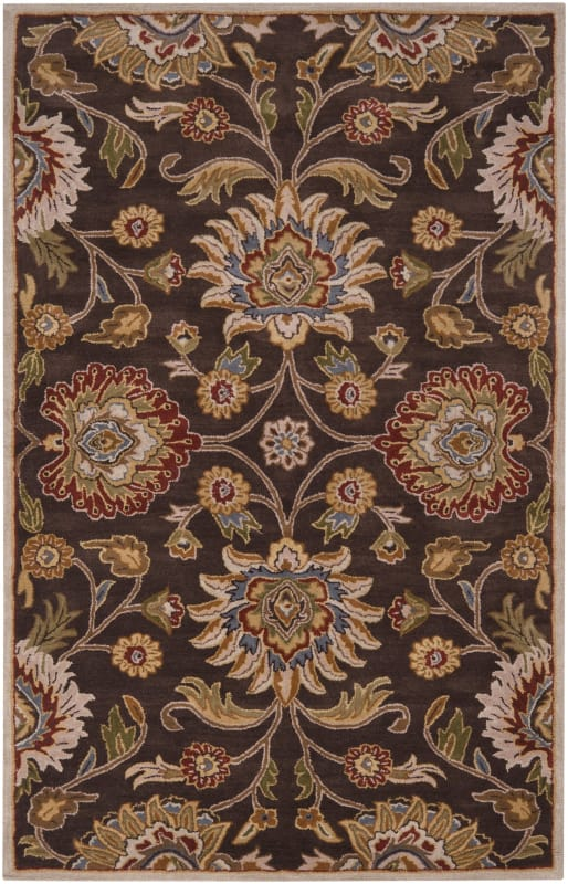 Surya CAE-1051 Caesar Hand Tufted Wool Rug Brown 4 Square Home Decor
