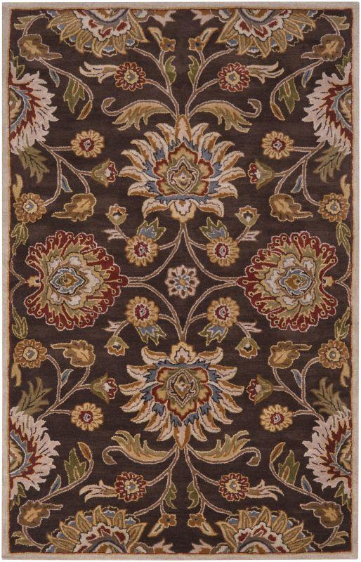 Surya CAE-1051 Caesar Hand Tufted Wool Rug Brown 5 x 8 Home Decor Rugs