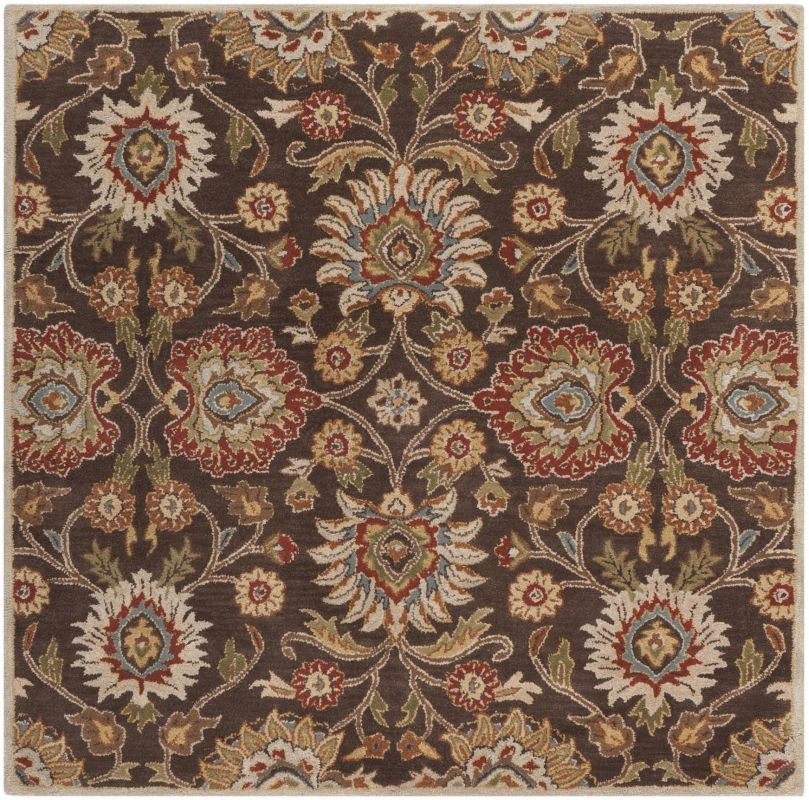 Surya CAE-1051 Caesar Hand Tufted Wool Rug Brown 6 Square Home Decor