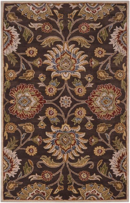 Surya CAE-1051 Caesar Hand Tufted Wool Rug Brown 8 Round Home Decor