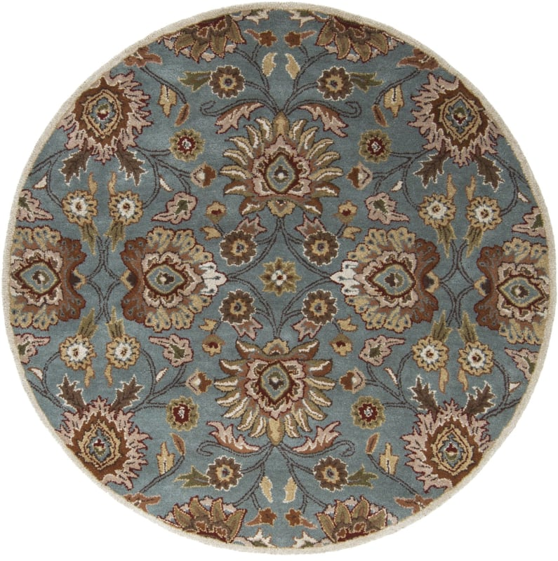 Surya CAE-1052 Caesar Hand Tufted Wool Rug Green 4 Round Home Decor