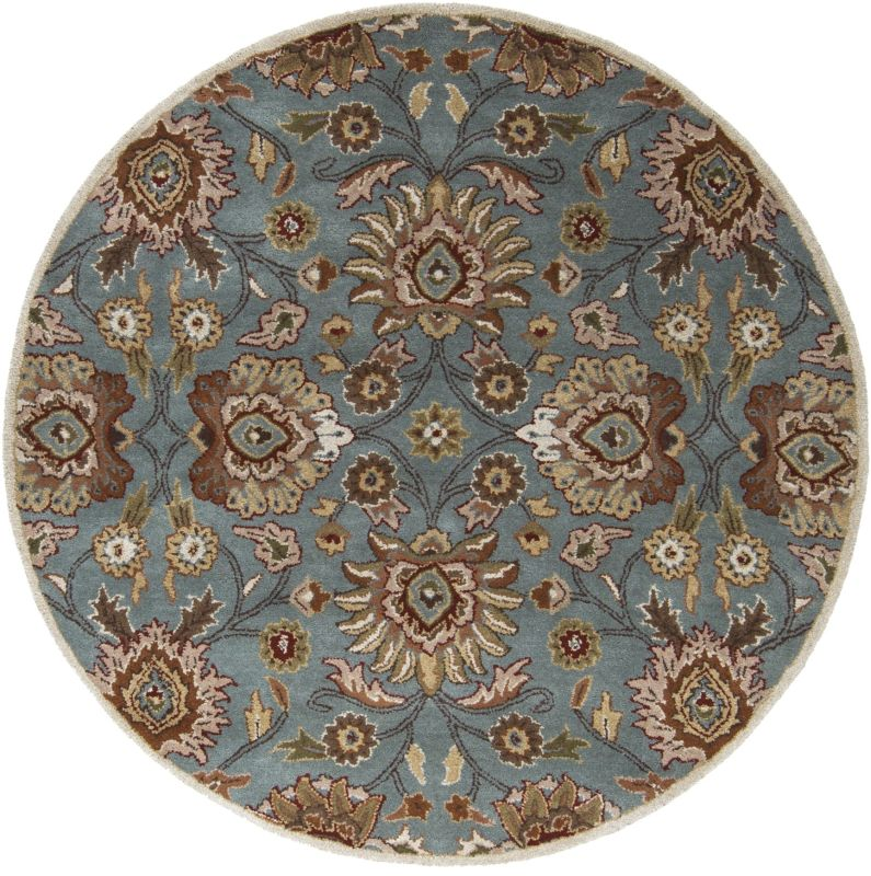Surya CAE-1052 Caesar Hand Tufted Wool Rug Green 6 Round Home Decor