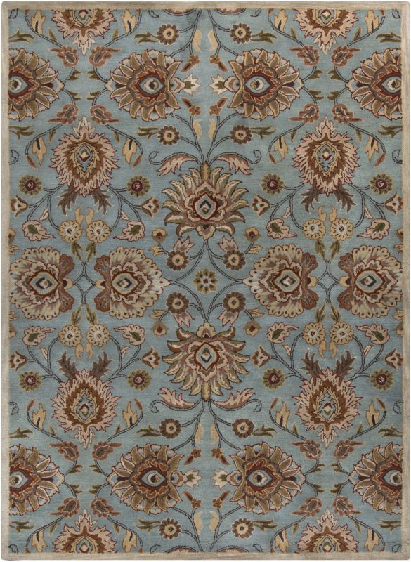 Surya CAE-1052 Caesar Hand Tufted Wool Rug Green 8 x 11 Home Decor