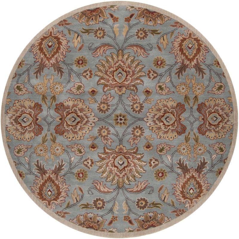 Surya CAE-1052 Caesar Hand Tufted Wool Rug Green 8 Round Home Decor