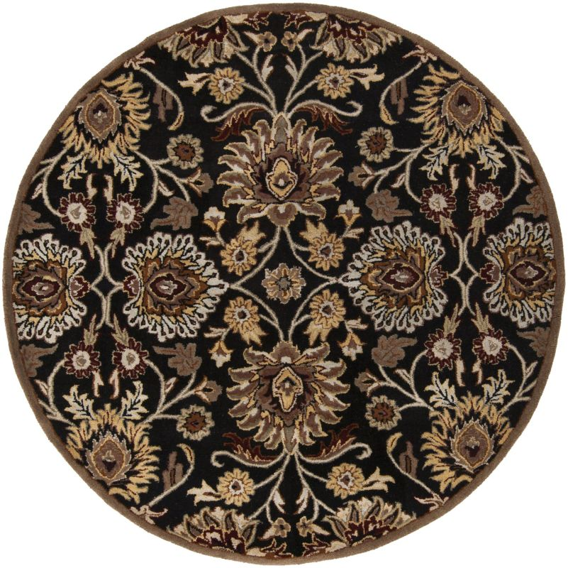 Surya CAE-1053 Caesar Hand Tufted Wool Rug Gray 4 Round Home Decor