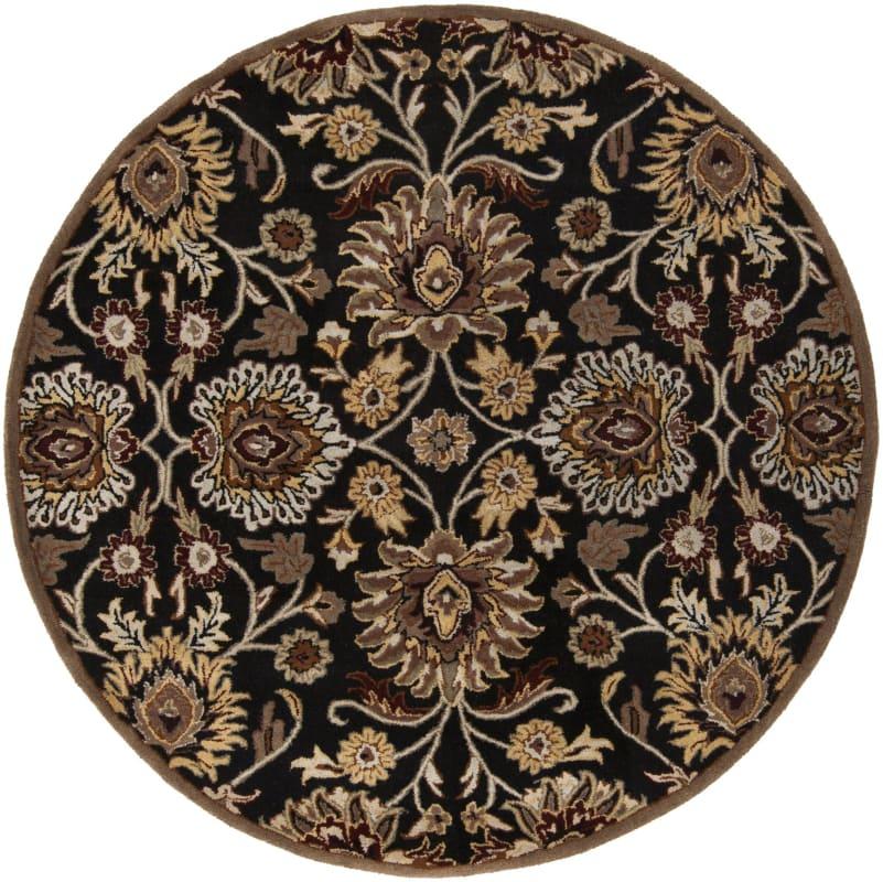 Surya CAE-1053 Caesar Hand Tufted Wool Rug Gray 6 Round Home Decor