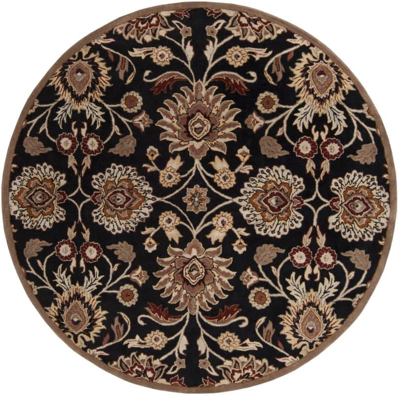 Surya CAE-1053 Caesar Hand Tufted Wool Rug Gray 8 Round Home Decor