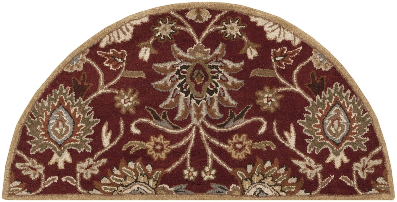 Surya CAE-1061 Caesar Hand Tufted Wool Rug Red 2 x 4 Hearth Home Decor
