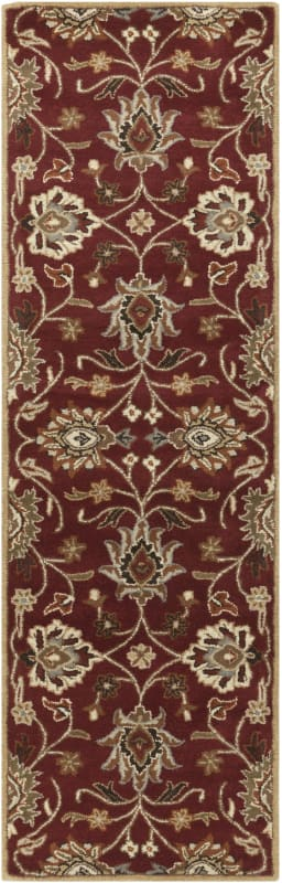 Surya CAE-1061 Caesar Hand Tufted Wool Rug Red 2 1/2 x 8 Home Decor