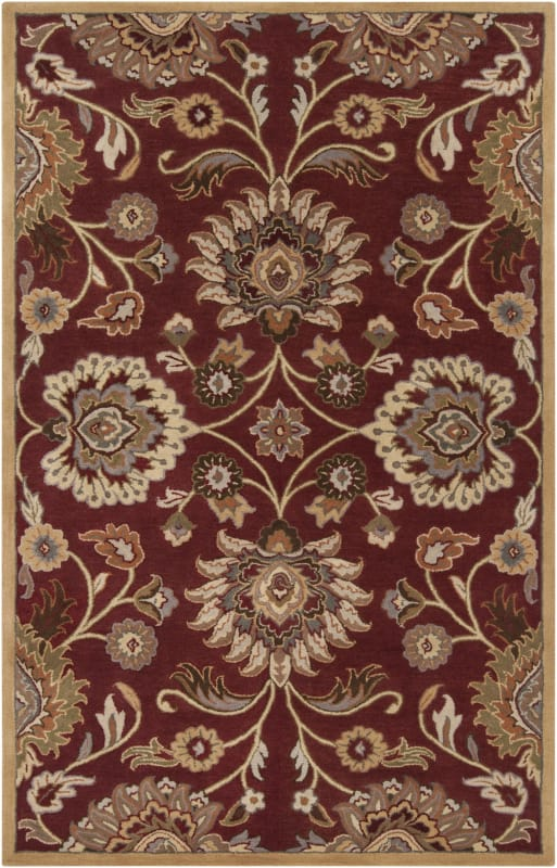 Surya CAE-1061 Caesar Hand Tufted Wool Rug Red 4 x 6 Home Decor Rugs