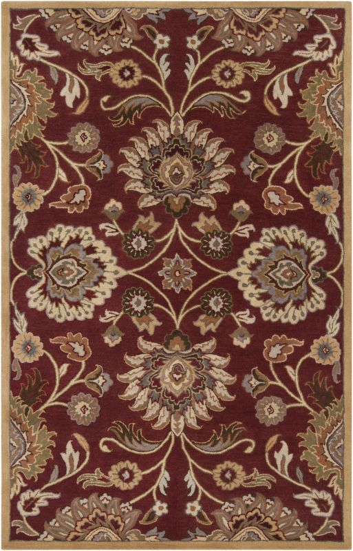 Surya CAE-1061 Caesar Hand Tufted Wool Rug Red 6 Square Home Decor