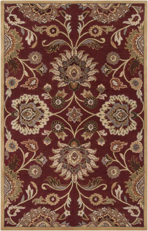 Surya CAE-1061 Caesar Hand Tufted Wool Rug Red 7 1/2 x 9 1/2 Home
