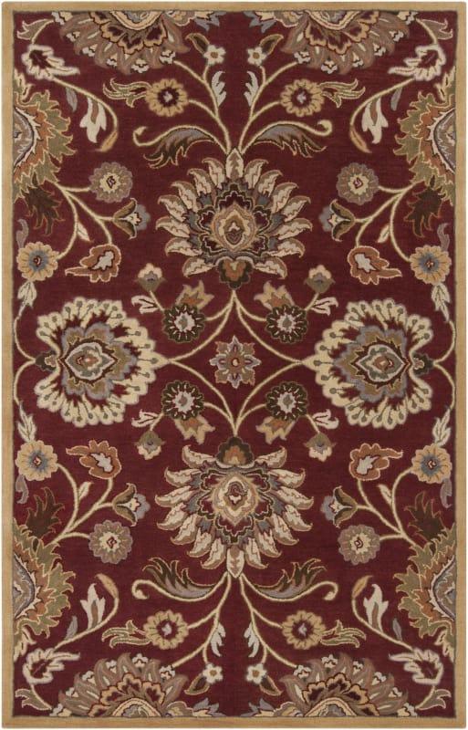 Surya CAE-1061 Caesar Hand Tufted Wool Rug Red 9 x 12 Home Decor Rugs