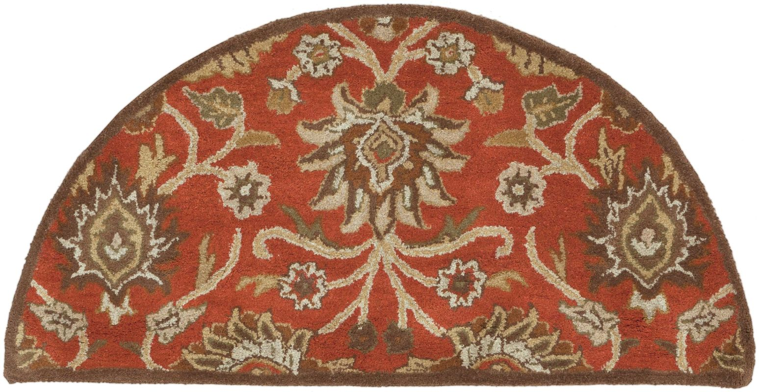 Surya CAE-1062 Caesar Hand Tufted Wool Rug Red 2 x 4 Hearth Home Decor