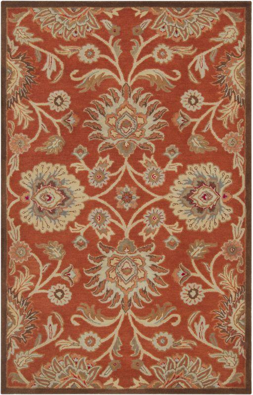 Surya CAE-1062 Caesar Hand Tufted Wool Rug Red 3 x 12 Home Decor Rugs
