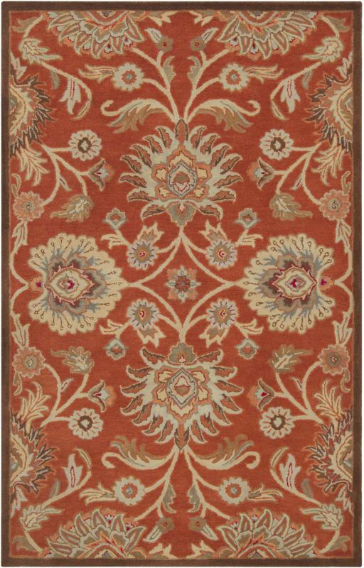 Surya CAE-1062 Caesar Hand Tufted Wool Rug Red 4 x 6 Home Decor Rugs
