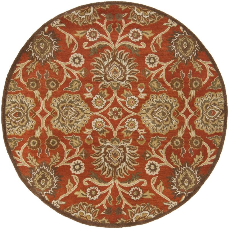 Surya CAE-1062 Caesar Hand Tufted Wool Rug Red 6 Round Home Decor Rugs