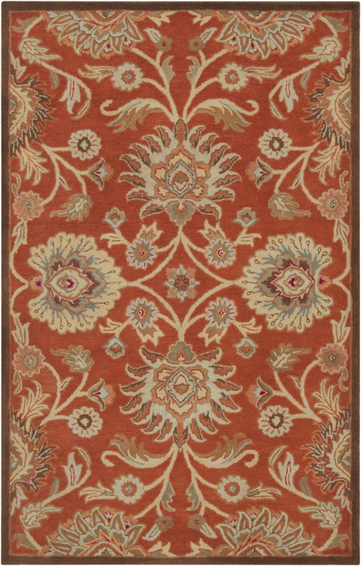 Surya CAE-1062 Caesar Hand Tufted Wool Rug Red 6 Square Home Decor