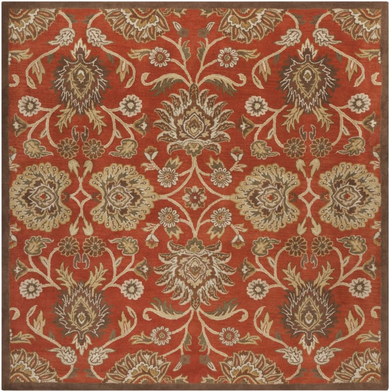 Surya CAE-1062 Caesar Hand Tufted Wool Rug Red 8 Square Home Decor