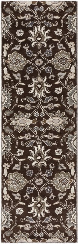 Surya CAE-1063 Caesar Hand Tufted Wool Rug Brown 2 1/2 x 8 Home Decor