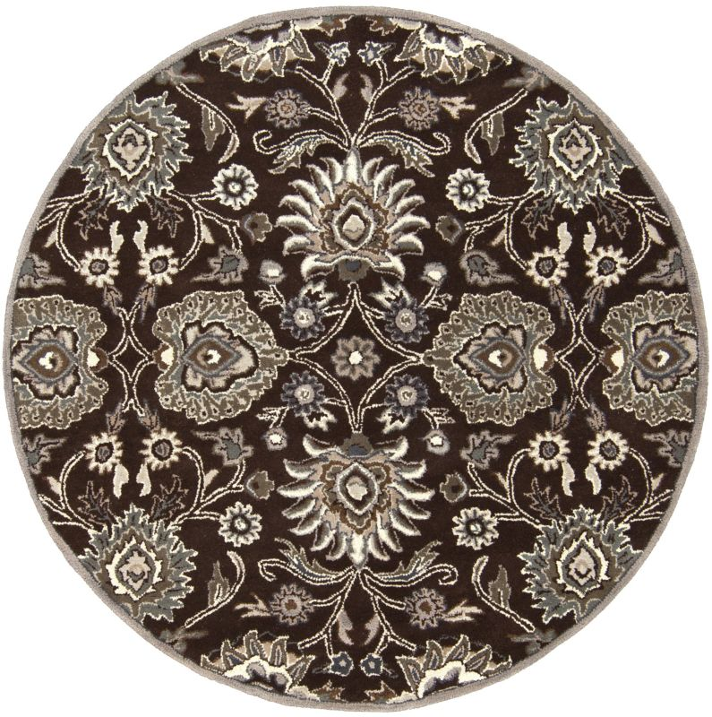 Surya CAE-1063 Caesar Hand Tufted Wool Rug Brown 4 Round Home Decor