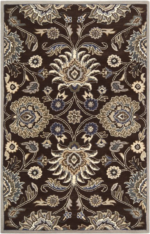 Surya CAE-1063 Caesar Hand Tufted Wool Rug Brown 6 Square Home Decor