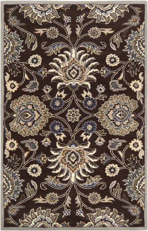 Surya CAE-1063 Caesar Hand Tufted Wool Rug Brown 7 1/2 x 9 1/2 Home