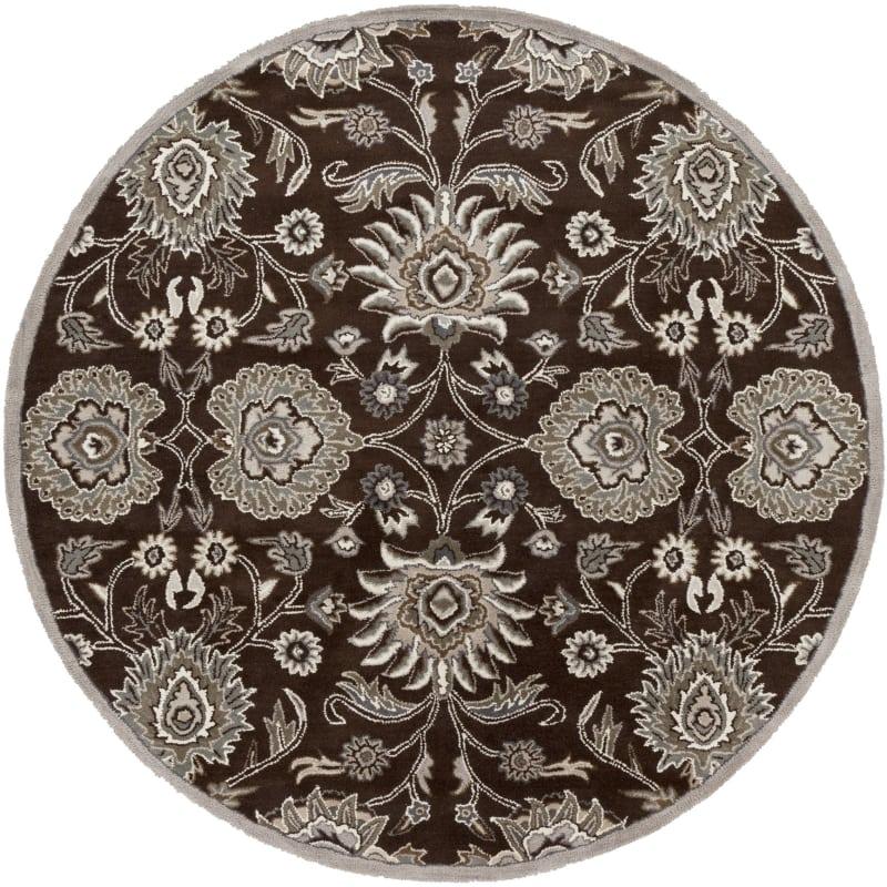 Surya CAE-1063 Caesar Hand Tufted Wool Rug Brown 8 Round Home Decor