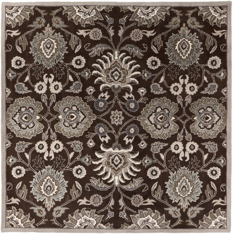 Surya CAE-1063 Caesar Hand Tufted Wool Rug Brown 8 Square Home Decor