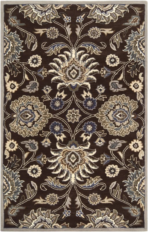 Surya CAE-1063 Caesar Hand Tufted Wool Rug Brown 10 Square Home Decor