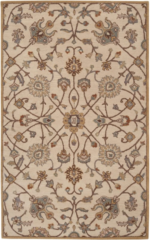 Surya CAE-1081 Caesar Hand Tufted Wool Rug Off-White 5 x 8 Home Decor