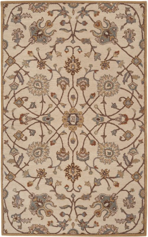 Surya CAE-1081 Caesar Hand Tufted Wool Rug Off-White 6 x 9 Home Decor