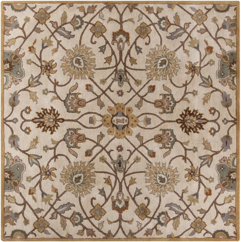 Surya CAE-1081 Caesar Hand Tufted Wool Rug Off-White 8 Square Home Sale $722.40 ITEM: bci2669910 ID#:CAE1081-8SQ UPC: 764262713961 :