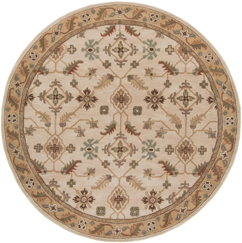 Surya CAE-1084 Caesar Hand Tufted Wool Rug Off-White 8 Round Home Sale $722.40 ITEM: bci2669975 ID#:CAE1084-8RD UPC: 764262714616 :