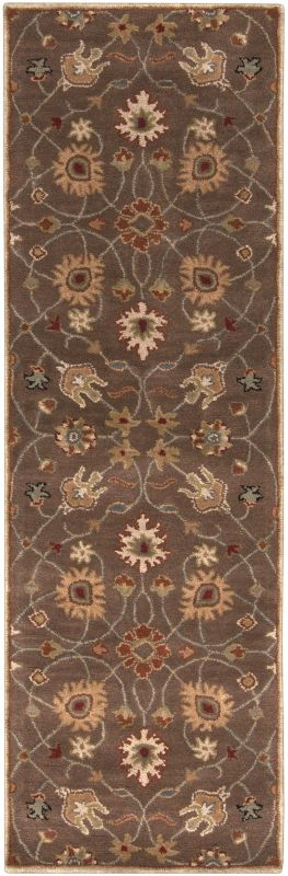 Surya CAE-1086 Caesar Hand Tufted Wool Rug Brown 2 1/2 x 8 Home Decor Sale $226.80 ITEM: bci2669984 ID#:CAE1086-268 UPC: 764262714982 :