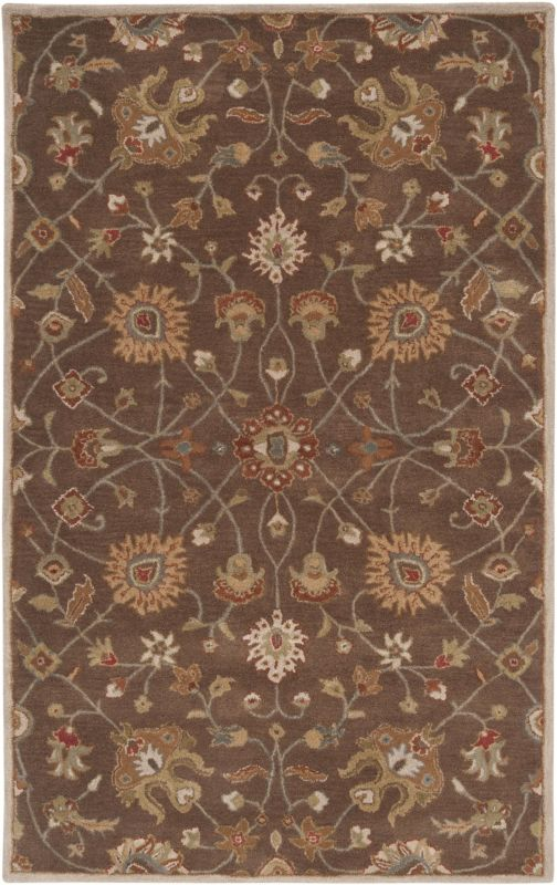 Surya CAE-1086 Caesar Hand Tufted Wool Rug Brown 5 x 8 Home Decor Rugs Sale $369.60 ITEM: bci2669989 ID#:CAE1086-58 UPC: 764262715019 :