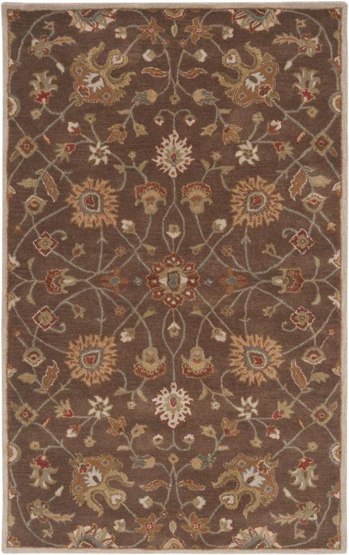 Surya CAE-1086 Caesar Hand Tufted Wool Rug Brown 5 x 8 Home Decor Rugs Sale $369.60 ITEM: bci2669989 ID#:CAE1086-58 UPC: 764262715019 :