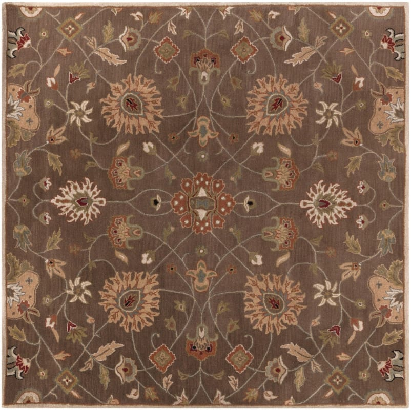 Surya CAE-1086 Caesar Hand Tufted Wool Rug Brown 10 Square Home Decor Sale $1073.40 ITEM: bci2670001 ID#:CAE1086-99SQ UPC: 764262715163 :