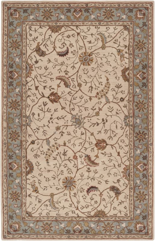 Surya CAE-1088 Caesar Hand Tufted Wool Rug Off-White 4 x 6 Home Decor