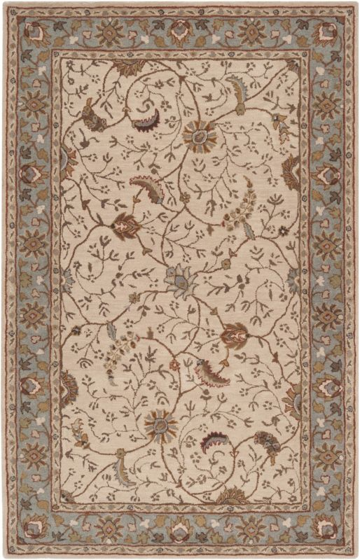 Surya CAE-1088 Caesar Hand Tufted Wool Rug Off-White 8 x 11 Home Decor Sale $813.60 ITEM: bci2670018 ID#:CAE1088-811 UPC: 764262715514 :
