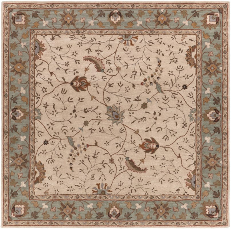 Surya CAE-1088 Caesar Hand Tufted Wool Rug Off-White 8 Square Home Sale $722.40 ITEM: bci2670020 ID#:CAE1088-8SQ UPC: 764262715507 :