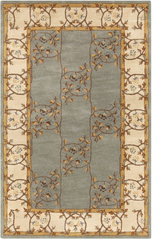Surya CAE-1100 Caesar Hand Tufted Wool Rug Green 5 x 8 Home Decor Rugs