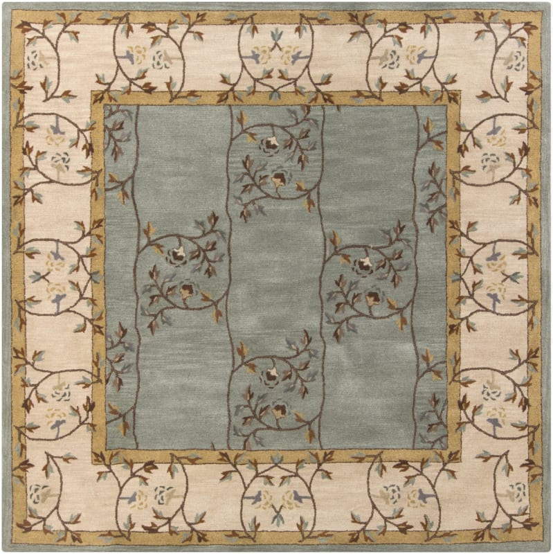 Surya CAE-1100 Caesar Hand Tufted Wool Rug Green 6 Square Home Decor